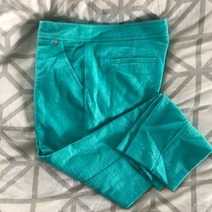 Teal Trina Turk ankle pant. Size 4.
